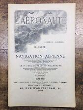 L'aéronaute 1897 Rare Revue Navigation  Aérienne Moteur San Francisco Pôle Nord