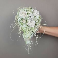 Alternative brides Wedding Bouquet,roses hand painted any colour,vintage effect.