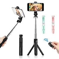 Bluetooth Extendable Selfie Stick Tripod Stand Remote Shutter For iPhone Samsung