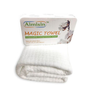 Aimisin Disposable Thick Big Compressed Towel for Home Bathroom Business Travel
