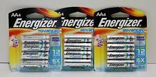 Pack of 12 ENERGIZER AA Advanced Lithium Batteries EXP 2021 & Up