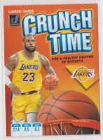 2019-20 LeBron James Donruss NBA Basketball Crunch Time Card # 2 L.A. LAKERS