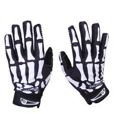 Bicycle Skeleton Pattern Full Finger Warm Bike Sports Gloves Black&White M