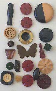 Lot of 21 Vintage Bakelite Buttons