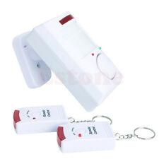 Wireless Shed Home Garage Caravan Pir Motion Sensor Alarm + 2 Remote Controls
