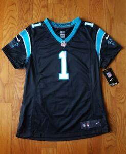 New NFL Nike Carolina Panthers Cam Newton #1 Women's Jersey Medium M