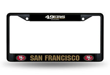 San Francisco 49ers Authentic Metal BLACK License Plate Frame Auto Truck Car NWT