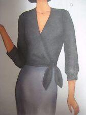 Butterick 6768 WRAP-TOP w/ SIDE TIE ENDS BLOUSE Sewing Pattern Women UNCUT NEW