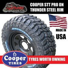 "15"" BLACK STEEL WHEEL WITH 33x12.5R15L/T Cooper STT PRO L/T MUD TYRE. 33 12.5 15"