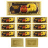 Business Souvenir Gifts Halloween Party Commemorative One Dollar Gold Note 10pcs