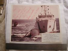Vintage NASA Photograph Signed Recovery Parachutes at Sea