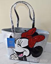Danielle Nicole Disney Minnie Mouse Women Faux Leather Glitter Tote Bag NWT