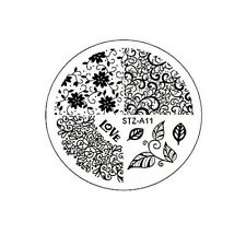 Stamping Schablone Stempel  Ranken Muster Blätter Fullcover LOVE   STZ-11