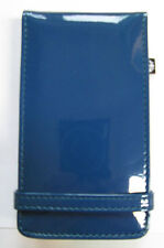 iPod Touch 4th generation PU Leather padded flip case with mirror,Glossy Blue