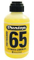 Jim Dunlop 65 Guitar Fretboard Lemon Oil Cleaner - 4 Fluid Ounce Bottle