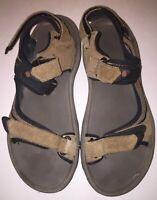 Teva Mens Beige Tan 4290 Hook And Loop Sports Water Strappy Sandals Size US 10
