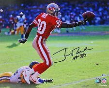 49ers Jerry Rice Authentic Signed Horizontal Catch 16x20 Photo BAS Witnessed