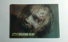 THE WALKING DEAD REG ZOMBIE HEAD FACE SEASON THREE 3 #18 HARD STICKER
