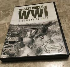 THE LAST VOICES OF WWI - A GENERATION LOST - 2 DISC SET