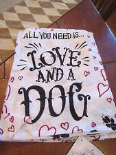 "Primitves by Kathy Kitchen Towel ""All You Need Is Love & A Dog'"