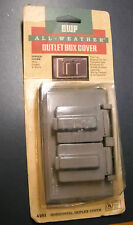 Bwf All Weather Outlet Box Duplex Cover 4181 Gray Metal