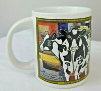 2002 Collectible Classical Cows Mug Van Gogh & Picasso Sherwood 12oz Coffee Cup