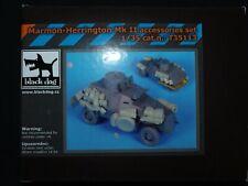 MARMON-HERRINGTON MK.II ACCESSORIES SET, T35124 (INCOMPLETE SET),BLACK DOG, 1:35