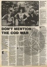 19/8/89Pgn11 Article & Picture 'don't Mention The Cod War' Icelandic Popsters Re