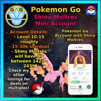Shiny Moltres - Pokemon Account Go - PTC Mini Acc - Trade able!!