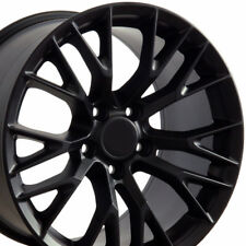 18x8.5 19x10 Satin Black C7 Z06 Style Wheels Set of 4 Rims Fits Corvette CP