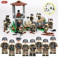 Military Base WW2 Set Army guns Ger Soldiers WWII Blocks Toy Fit Lego UK SELLER
