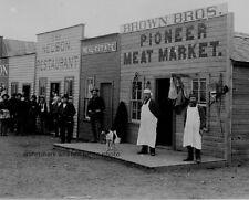 "Old West Cowboys on Broadway Street, Round Pond, OkIa. Terr. 8""x 10"" Photo 6"