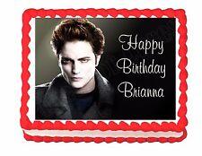Twilight  Edward party decoration edible cake image frosting sheet -personalized