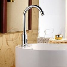 Hands Free Automatic Sensor Cold Water Tap Bathroom Basin Faucet Sink Mounted