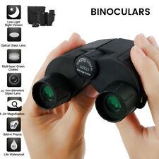Mini Binoculars 10x25 Military Zoom Powerful Optics Hunting Camping Day/Night