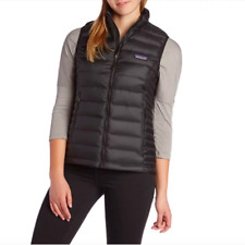 Patagonia Womens Down Sweater Vest Logo Black Size S