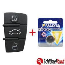 Tastenfeld AUDI A3 A4 A5 A6 A8 TT Autoschlüssel Ersatztaste Gummi Pad + BATTERIE
