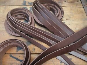 130cm long SPLIT LEATHER STRAPS 1.2-1.6mm thick Various widths available BROWN