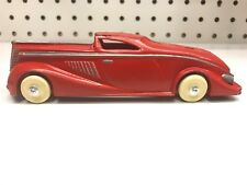 Vintage 1936 Red Manoil Coupe No. 704 Diecast Car 1:32 Pat. No. 95791