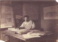 Francia Architetto A Identificare Atelier Artistico Foto Vintage Albumina c1890