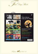 FDS 10 stamps Timbres Tintin on the big screen à l'écran Oblitéré premier jour