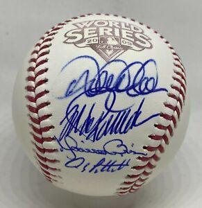 CORE 4 FOUR Yankees Multi Signed 2009 WS Baseball Jeter Rivera Posada FANATICS