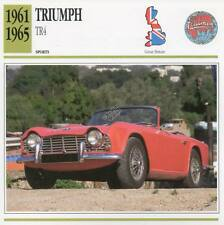1961-1965 TRIUMPH TR4 Sports Classic Car Photo/Info Maxi Card