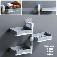 Soap Dish Storage Rack Toilet Shower Tray Drain Shelf Holder Bathroom Decor