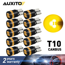 10 PC Amber Yellow T10 168 194 2825 Interior License Plate Light LED CANBUS Bulb