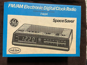 Vintage Stock GE 7-4624B FM/AM Electronic Digital Alarm Clock Radio New NIB 80's
