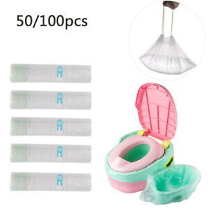 Disposable Travel Potty Kids Liners Portable Training Toilet Seat Bin Bags 50Pcs