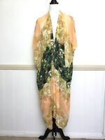 Womens Miracle Dress $79.95 Size S M Yellow Green Casual Swimmer Coverup New