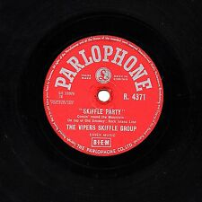"""RARE 1957  THE VIPERS 78  """" SKIFFLE PARTY Parts 1 & 2 """" UK PARLOPHONE R 4371 VG+"""