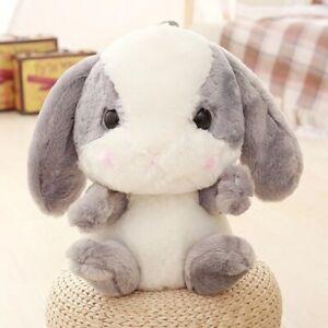 Cute Furry Lolita Rabbit Bunny Shoulder Backpack Plush Toy Fashion Doll Gift